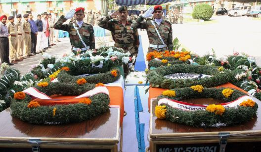 Tribute to slain soldiers